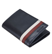 Tommy Hilfiger Men's Leather Wallet RFID Protection Trifold Red Navy 31HP110034 image 3