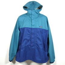 Vtg Patagonia Anorak 1/2 Snap Zip Rain Windbreaker Jacket Large Poly Tea... - $47.99