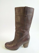 Timberland 8 Rudston Brown Leather Knee High Heel Boots Earthkeepers Waterproof - $49.45