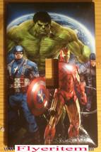 Captain America Iron Man Hulk Comic Hero Light Switch Outlet Cover Plate decor image 1