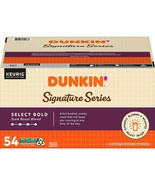 54 Premium K-Cups Dunkin' Signature Series Select Bold Coffee, Dark Roast - $47.49