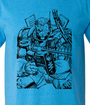 Cable t-shirt X-Force retro 80's comic book vintage style heather blue tee image 1