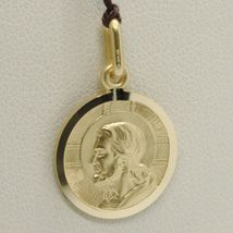 SOLID 18K YELLOW GOLD JESUS CHRIST REDEEMER 17 MM MEDAL, PENDANT, MADE IN ITALY image 3