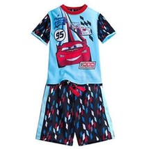 New Disney Store Cars Lightning McQueen 2 Piece Short Sleeve Pajama Set  Size 4T - $24.99