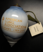 Ne 'Qwa Art Christmas Ornament 2004 American Lung Association 100 Annive... - $24.99