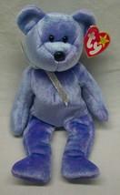 """TY Beanie Baby CLUBBY II PURPLE TEDDY BEAR 8"""" Stuffed ANIMAL Toy NEW - $14.85"""