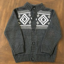 Gymboree Boys Cardigan Style Buttoned Thick Sweater Size M (7-8) - Gray - $9.00