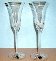 Waterford Crystal Giselle Champagne Flute Pair Made in Ireland New In Stock - $208.90