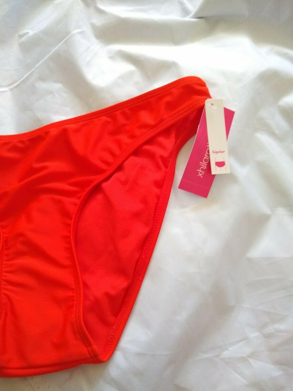 Xhilaration Women's Hipster Red Bikini Bottom Size XL image 4
