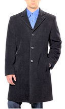 Hathaway Platinum Men's  Wool & Cashmere Coat, Charcoal, Size 42S - $49.49
