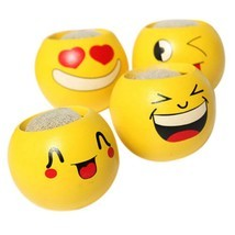 Flower Pot Cartoon Emoji Smile Face Toy Mini Flowerpot Succulents Fleshy... - $9.99