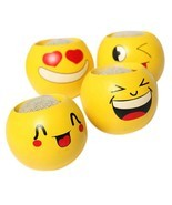 Flower Pot Cartoon Emoji Smile Face Toy Mini Flowerpot Succulents Fleshy... - €8,74 EUR