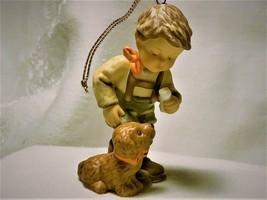 "Berta Hummel ""Christmas Treat For Puppy"" Ornament - $10.00"