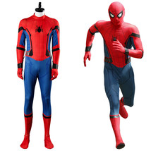 2017 Movie Spider-Man Homecoming Spiderman Civil War Cosplay Costume Out... - $79.99+