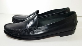 Cole Haan Black Leather Slip-On RESORT Penny Loafers Men's Size 10 M - $24.99