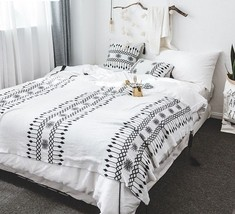 Geometric Blankets Soft Cotton Knitted Throw For Sofa Bed Home Use 130x1... - $27.71+