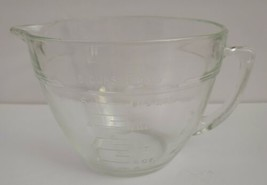 ANCHOR HOCKING FIRE KING VINTAGE 8 CUP 2 QT GLASS MEASURING CUP BATTER BOWL - $20.57