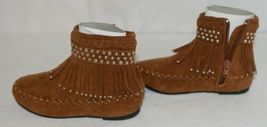 I Love Yo Kids AVA 78K Girls Fringe Boot Rust Silver Studded Size 11 image 5