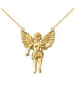 14K Yellow Gold Cherub Guardian Angel Small Necklace - $234.99+