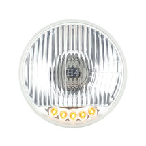 United Pacific 5-3/4 in Crystal Halogen Headlight Bulb w/ Auxiliary LED,S2005LED - $44.99