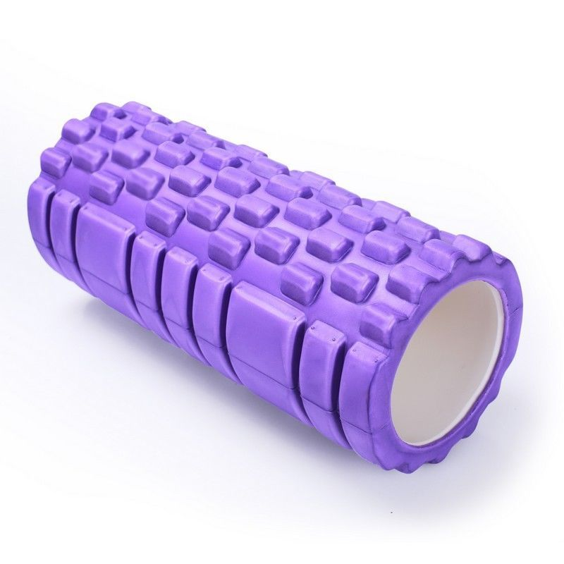 Adeco Purple Exercise & Fitness Foam Roller - 13 X 5.5 Inch Diameter