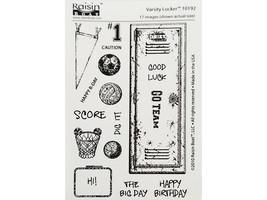 Raisin Boat Stamps Varsity Locker Clear Cling Stamp Set #10192