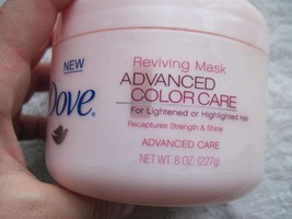 Dove Reviving Mask Advanced Color Care 8 oz Tub Lightened Highlighted Hair Shine - $15.00