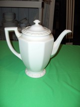 Vintage Rosenthal China Coffee Pot 8 Cup Maria White  Classic Rose NICE - $84.15