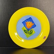 Arcoroc France Matys Buffet Plate Yellow Tempered Glass Dinnerware 10 1/... - $25.00