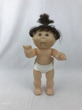 """Cabbage Patch Doll Mattel 12"""" Vinyl Body Poseable Arms Legs Brown Eyes Hair 1996 - $12.95"""
