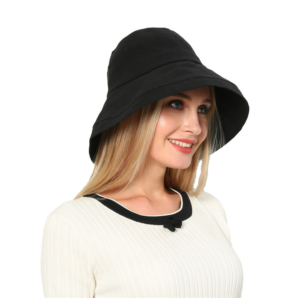 CHANSGEND Women Spring And Summer Hat Foldable Wide Brim Floppy Caps Casual Sun