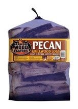 Barbeque Wood Flavors 60066 Pecan Cooking Logs  25 lbs - $44.67