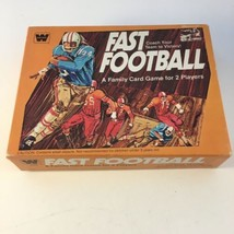 Vintage 1977 FAST FOOTBALL Family Card Game Whitman COMPLETE - $19.79