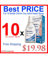 10x 10ml Otrivin Oxy Fast Relief Adult Spray - $19.98