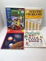 LOT OF BOOKS, TIME, MONEY, SOLVING PROBLEMS, ASTRONOMY MATH, MATH PUZZLES - $6.93