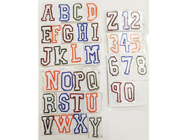 Capital Alphabet and Numbers Clear Stamp Set