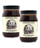 "BROWNWOOD ACRES  CHERRY BARBEQUE SAUCE  ""SINCE 1945"" - 2 LARGE JARS - $26.00"