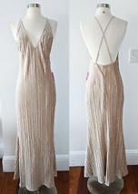 Champagne Beige Nude Dress MEDIUM Wedding Bridesmaid Formal Prom Cocktai... - $29.68