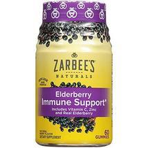 Zarbee's Naturals Elderberry Immune Support* with Vitamin C & Zinc, Natural Berr image 4