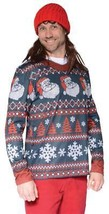 Ugly Christmas Sweater Santa Mens Adult Costume Halloween Party FR126708 - $47.99