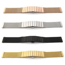Watch Strap Bracelet Shark Mesh Stainless Steel Solid Link Band Deployment Clasp - $50.69