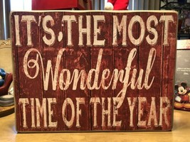 """It's the Most Wonderful Time of the Year"" Wood Wall Sign Design By Kathy - $78.21"