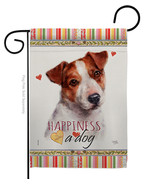 Jack Russell Terrier Happiness - Impressions Decorative Garden Flag G160... - $19.97