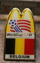 McDonalds Belgium World Cup USA 1994 94 Soccer Collectible Pinback Pin Button - $8.39