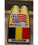 McDonalds Belgium World Cup USA 1994 94 Soccer Collectible Pinback Pin B... - $8.39