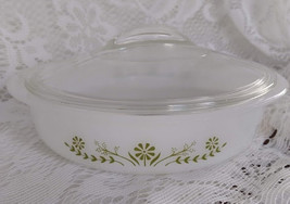 "Glas Bake ""Primrose Dream"" Pattern Casserole Dish with Lid - $15.00"