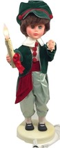 Vintage Rennoc Animated Christmas Caroler Victorian Doll Boy lighted Can... - $149.99