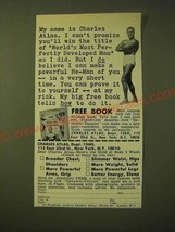 1966 Charles Atlas Book Ad - My name is Charles Atlas. I can't promise - $14.99