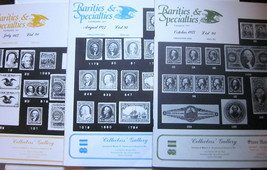 Lot of 3 Martin A. Armstrong RARITIES & SPECIALTIES Stamp Catalogs #91, ... - $19.59