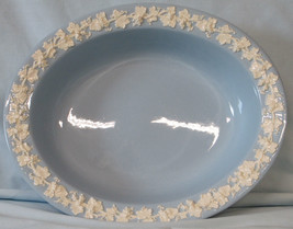 "Wedgwood Embossed Queen's Ware Lavender 9 1/2"" Oval Serving Bowl - $35.53"